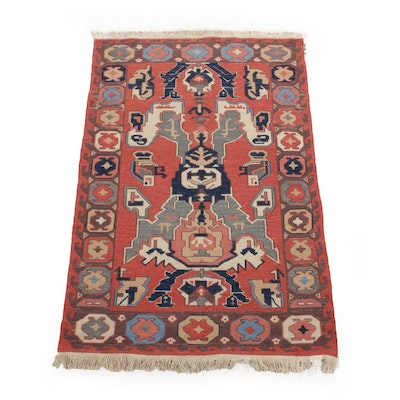 3'8 x 6'1 Hand-Knotted Turkish Kilim Rug