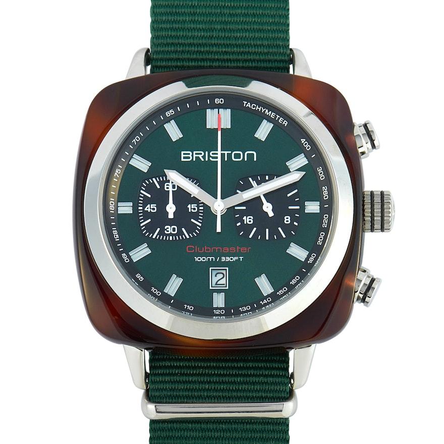 Briston Clubmaster Sport Acetate Dark Green Dial Wristwatch