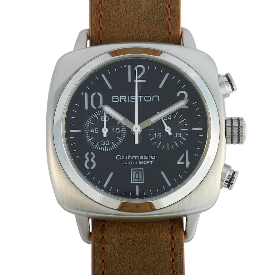 Briston Clubmaster Classic Steel Matt Black Dial Wristwatch