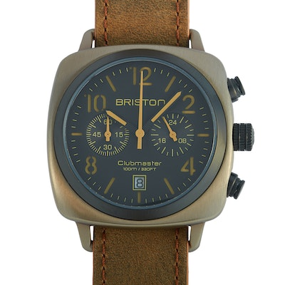 Briston Clubmaster Classic Khaki Steel Wristwatch