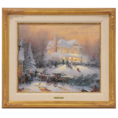 "Thomas Kinkade Hand-Embellished Offset Lithograph  ""Victorian Christmas II"""