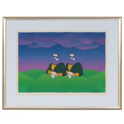 "Joe Petro III Silkscreen Print ""Mona II"", 1984"