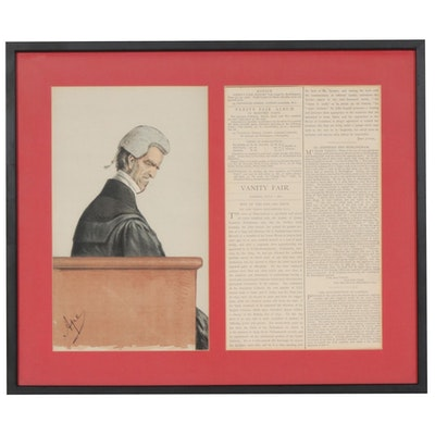 "Carlo Pellegrini Chromolithograph ""La Reyne le Veult"" for ""Vanity Fair,""  1871"