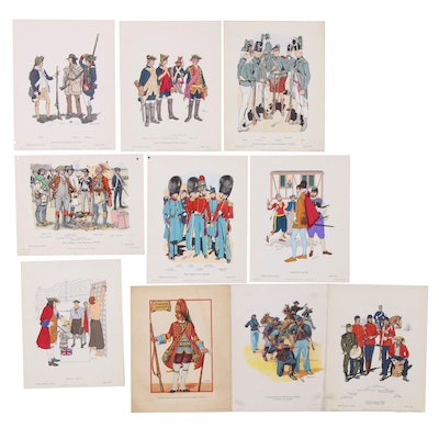 "Lithographs and Offset Lithographs ""Military Uniforms in America"""