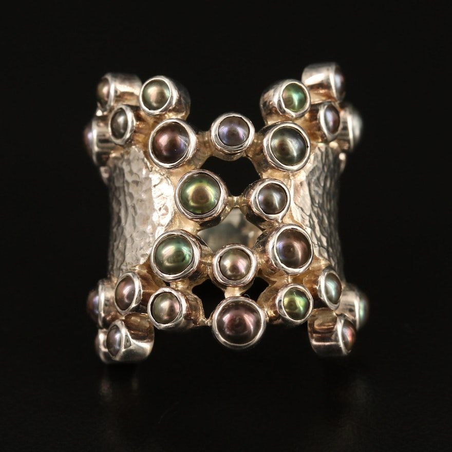 Laurent Léger 950 Silver Pearl Cluster Ring