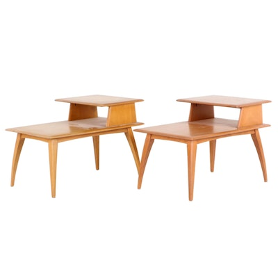 Heywood Wakefield Mid Century Modern Maple Side Tables, Mid 20th Century