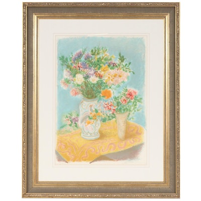 "Ira Moskowitz Limited Edition Signed Lithograph ""Flower Bouquet"""
