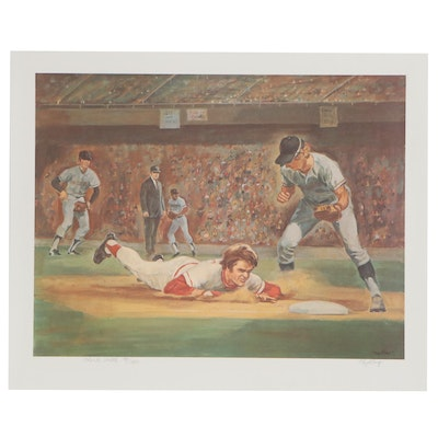 "Floyd Berg Signed ""Charlie Hustle"" Pete Rose Limited Lithograph"