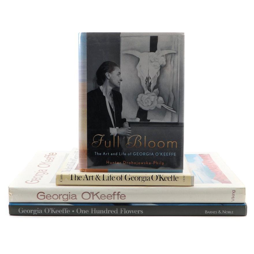 """Georgia O'Keeffe Art Books Featuring First Edition """"Georgia O'Keeffe"""""""