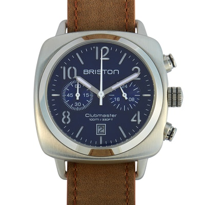 Briston Clubmaster Classic Steel Blue Dial Wristwatch
