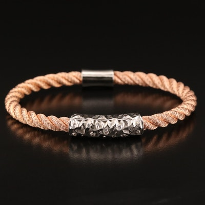 Sterling Silver Cubic Zirconia Cable Bracelet