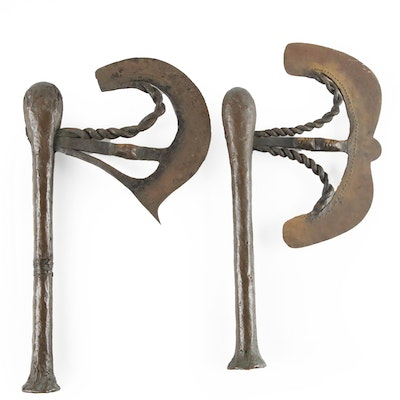 "Songye ""Nzappa Zap"" Ceremonial Axes, Democratic Republic of the Congo"
