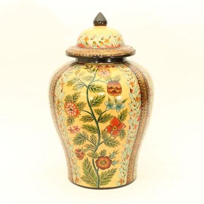 Ceramic Hand-Painted Urn