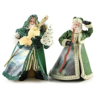 Thomas Kinkade Santa Claus Figurines,21st Century