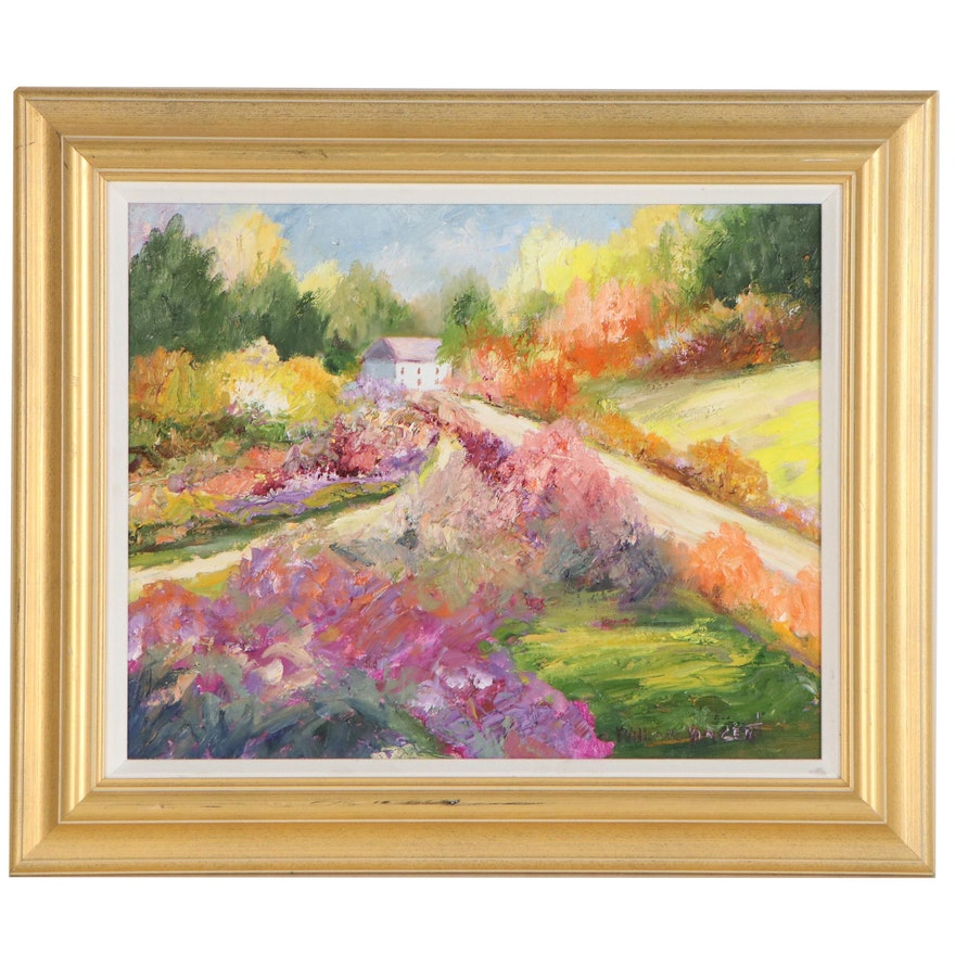 William Vincent Impasto Landscape Oil Painting