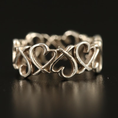 """Paloma Picasso for Tiffany & Co. Sterling Silver """"Loving Heart"""" Eternity Band"""