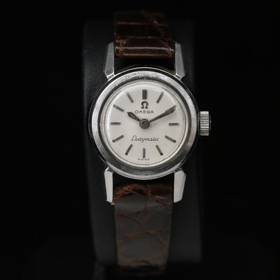 """1957 Omega """"Ladymatic"""" Stainless Steel Automatic Wristwatch"""