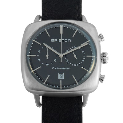 Briston Clubmaster Vintage Brushed Steel Wristwatch