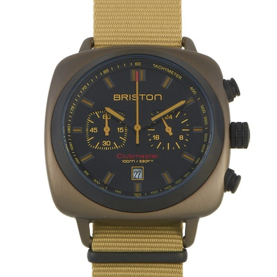 Briston Clubmaster Sport Khaki Steel Wristwatch