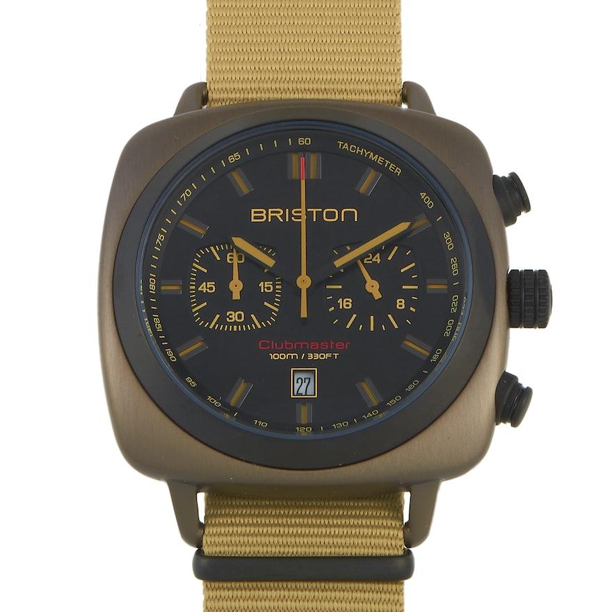 Briston Clubmaster Sport Khaki Steel Wristwatch