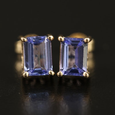 9K Tanzanite Stud Earrings