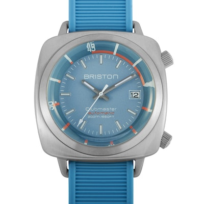 Briston Clubmaster Diver Brushed Steel Watch
