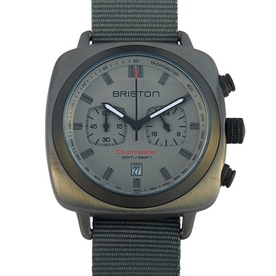 Briston Clubmaster Sport Gun Steel Wristwatch