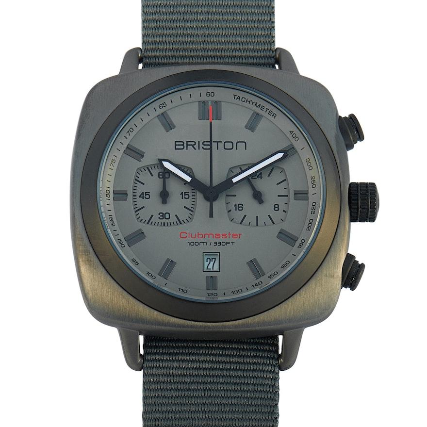 Briston Clubmaster Sport Gun Steel Wristwatch