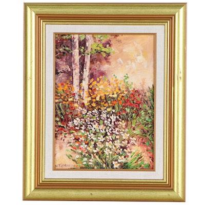 "Wanda Kippenbrock Floral Landscape Oil Painting ""Springtime"""