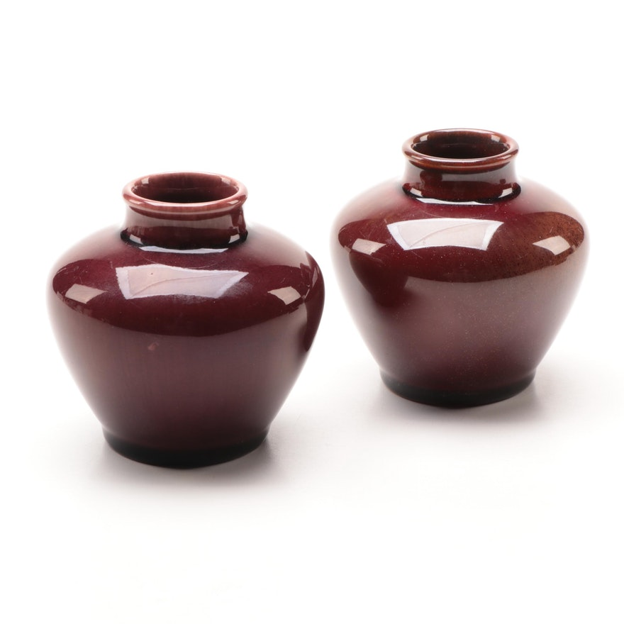 Pair of Rookwood Pottery Oxblood Vases, 1932