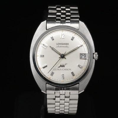 1966 Longines Ultra-Chron Stainless Steel Automatic Wristwatch