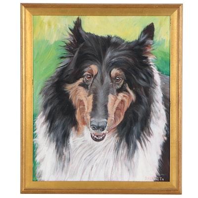Canine Portrait Oil Painting, 2013
