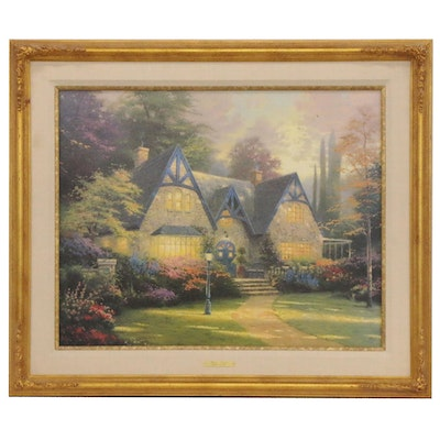 "Thomas Kinkade Embellished Offset Lithograph ""Winsor Manor"""