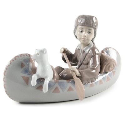 """Lladró """"Little Explorer"""" Porcelain Figurine Designed by Alfredo Llorens"""