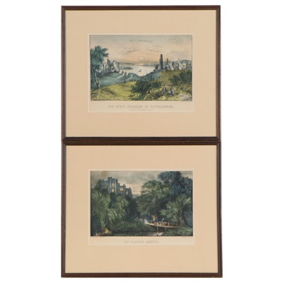 Currier & Ives Landscape Lithographs, 19th Century