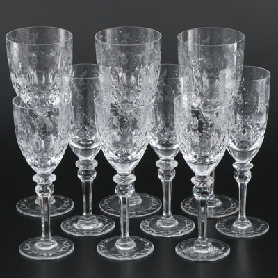 "Rogaska ""Gallia"" Crystal Water Goblets, Wine Glasses and Champagne Flutes"