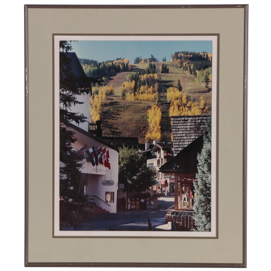 Richard Strauss Color Photograph Collage of Vail, Colorado