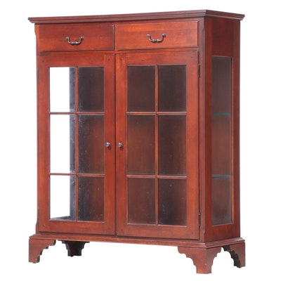 Cresent Mfg. Co. American Primitive Style Cherrywood Display Cabinet