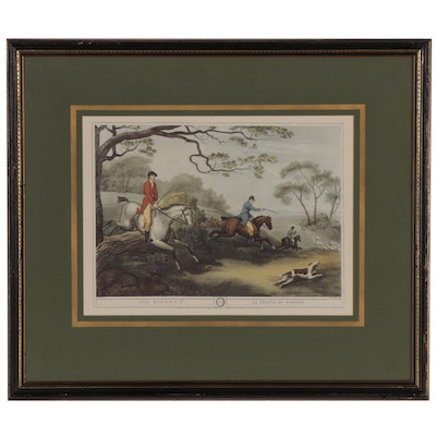 """Offset Lithograph After Samuel Howitt Hunting Scene """"Fox Hunting. 2nd"""""""