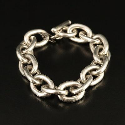Sterling Silver Cable Link Bracelet