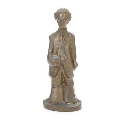 Bronze Stylized Judge Figurine