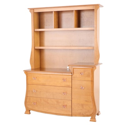 Pali Contemporary 2-Piece Chest of Drawers with Bookcase