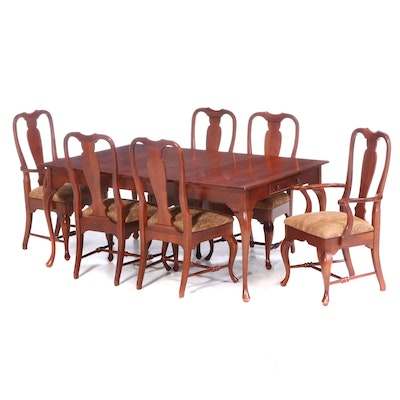 Seven-Piece Cresent Mfg. Co. Queen Anne Style Cherrywood Dining Set