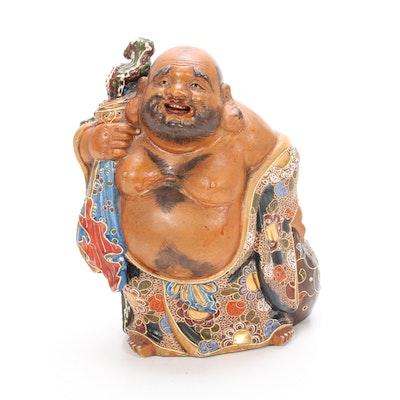 Satsuma Moriage Ceramic Budai Figure
