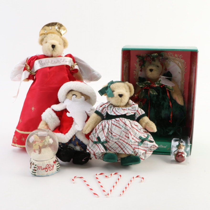 Holiday Muffy VanderBear Tree Toppers, Stuffed Toys, Snow Globe and Ornament