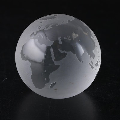 Tiffany & Co. Frosted Glass Globe Paperweight