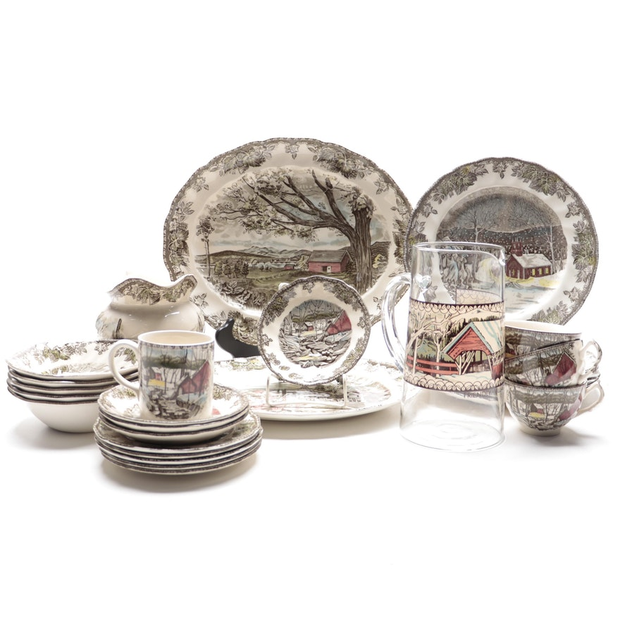 """Johnson Bros """"The Friendly Village"""" Ironstone Dinnerware and Serving Pieces"""