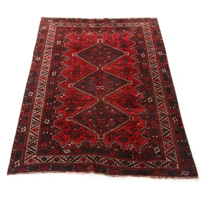 6'11 x 9'8 Hand-Knotted Afghani Turkoman Rug