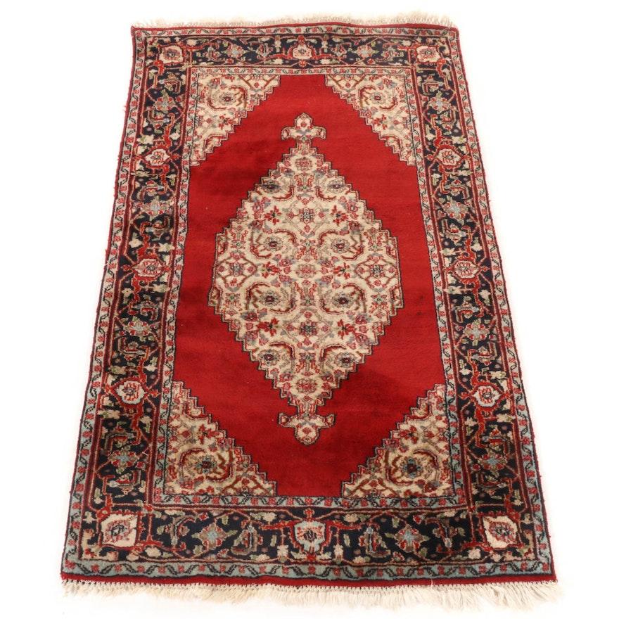 3'0 x 5'3 Hand-Knotted Indo-Persian Bijar Rug