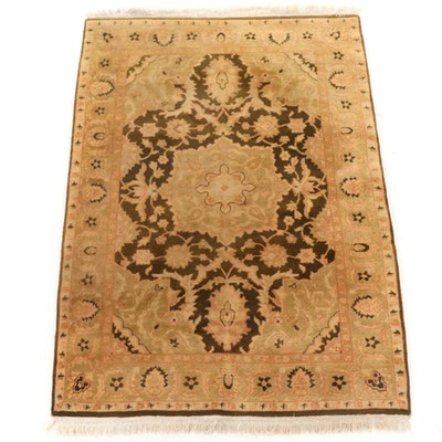 4'3 x 7'5 Hand-Knotted Turkish Oushak Rug